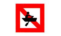 Fahrverbot für Fahrzeuge ohne Motor oder Segel